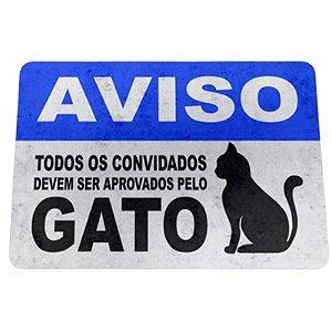 """Tapete Eco 3mm """"Aprovados pelo gato"""" - unitário - Yaay!"""