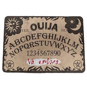 """Tapete Eco 3mm """"Tabuleiro Ouija - Vá Embora"""" - unitário - Yaay!"""