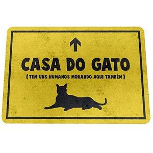 """Tapete Eco 3mm """"Casa do Gato"""" - unitário - Yaay!"""