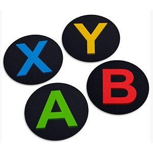 """Jogo de Porta Copos """"Botões XYAB"""" - com 4 unidades - Yaay!"""