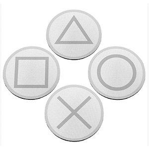 """Jogo de Porta Copos """"Botões de Controle"""" - com 4 unidades - Yaay!"""