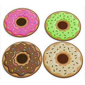 "Jogo de Porta Copos ""Donuts"" - com 4 unidades - Yaay!"