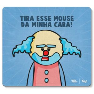 """Mousepad """"Paiaço Dr. Pepper"""" - unitário - Yaay!"""