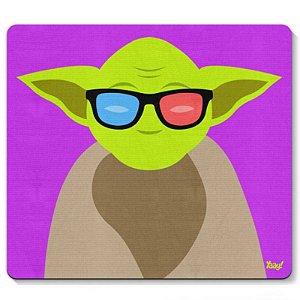 "Mousepad ""Geek Yoda"" - unitário - Yaay!"