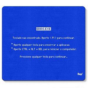 """Mousepad """"Tela Azul"""" - unitário - Yaay!"""