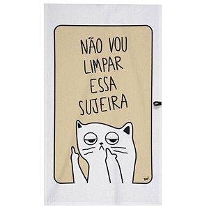 """Pano de Prato """"Gatinho"""" - unitário - Yaay!"""
