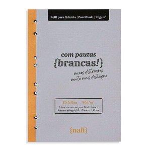Refil p/ Fichário c/ 80 Folhas B5 Cinzas e Pontilhadas - unitário - Nalí