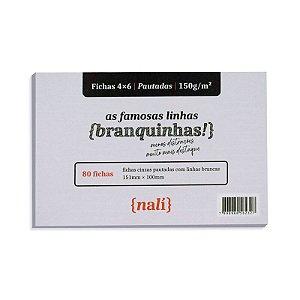 Fichas Cinzas 80 Folhas 4x6 Pautadas - unitário - Nalí