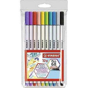 10 Canetas Stabilo Pen 68 Brush - unitário - Stabilo