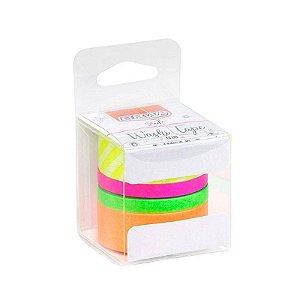 Fita Washi Tape Neon - c/ 4 unidades - BRW