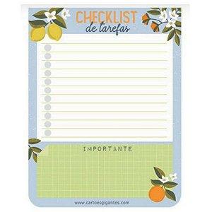"""Bloco do Dia """"Checklist"""" Azul bebê - unitário - Cartões Gigantes"""