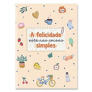 """Caderneta Dueto """"A Felicidade está nas coisas simples"""" - unitário - Cartões Gigantes"""