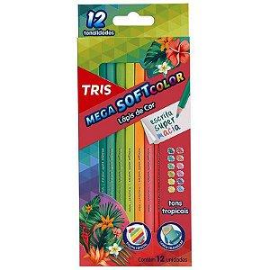 12 Lápis de Cor Mega Soft Tons Tropicais - unitário - Tris