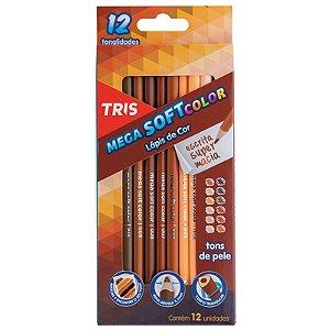 12 Lápis de Cor Mega Soft Tons de Pele - unitário - Tris