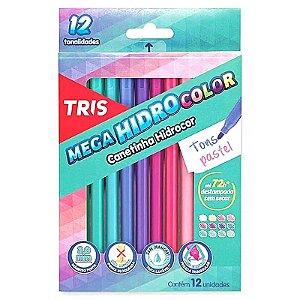 12 Canetinhas Mega Hidro Color Tons Pastel - unitário - Tris