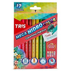 12 Canetinhas Mega Hidro Color Tons Tropicais - unitário - Tris