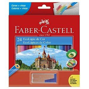 24 Lápis de Cor EcoLápis + Apontador - unitário - Faber-Castell