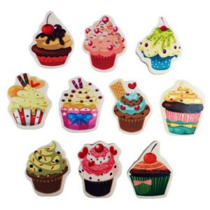 Borracha Cupcake - unitário - Importados