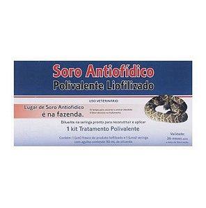 Soro Antiofídico - Polivalente Liofilizado