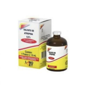 Sulfato de Atropina 0,5% - 10 frascos de 10mL