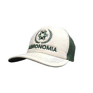 Boné Agronomia Tela Bege / Verde