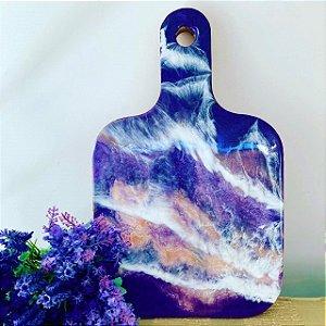 Tabua de charcutaria Purple Rain