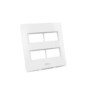 Placa para 2 + 2 módulos Distanciados 4x4 Beleze