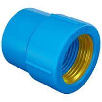 Luva Azul Soldável com Bucha de  Latão   Amanco
