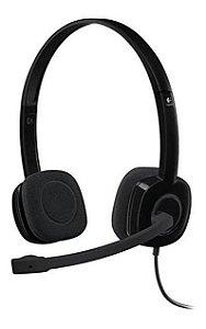 Headset Logitech H151 Stereo Preto