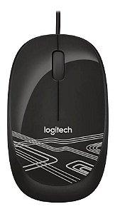 Mouse Com Fio Logitech M105 Usb Optico Preto