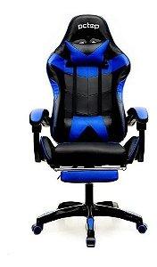 Cadeira Gamer Pctop Se1006e Com Apoio Para Os Pés Azul