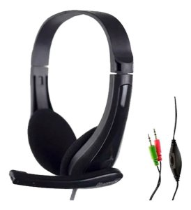 Fone De Ouvido Headset Gamer Barato Hoopson P2 Microfone