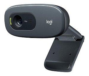 Webcam Logitech C270 Hd 720p Com Microfone Embutido