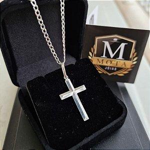 Pingente Prata 925 Crucifixo 3D Alto Relevo