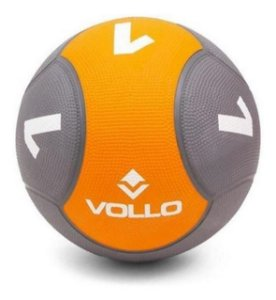 Bola Medicine Ball Borracha 1KG Peso Funcional - Vollo