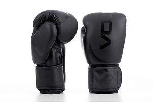 Luva de Boxe/Muay Thai Vollo Preta 14 Oz Training Lançamento