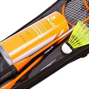 Kit Badminton C/ 2 Raquetes, 3 Petecas e Raqueteira - Vollo
