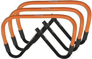 Kit Conjunto Treinamento Salto Com 3 Barreiras Ajustáveis Vollo