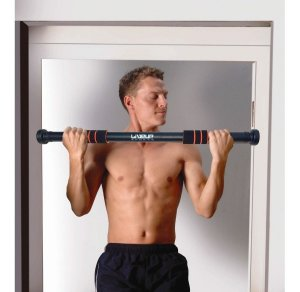 Barra de Porta Adaptável Ajustável Exercícios Musculação LiveUp