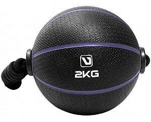 Bola Medicine Ball 2 Kgs Com Corda Academia Fitness Live Up