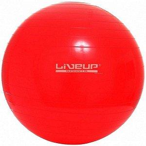 Bola Suíça Pilates Premium Com Bomba 45cm Liveup Anti Estouro