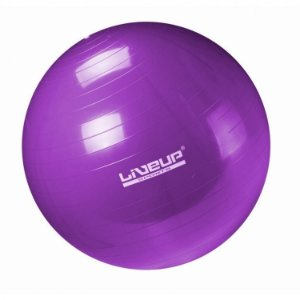Bola Suíça Pilates Premium Com Bomba 55cm Liveup  Anti Estouro