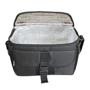 Bolsa Térmica Lunch Box Simples Preto/Prata A46  -Acte