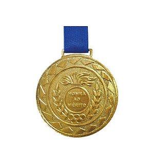 Medalha de Ouro M43 Esportiva Honra ao Mérito Com Fita Azul