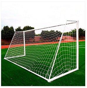 Par de Rede de Futebol de Campo 7,50 m x 2,50 m Fio 2mm Anti UV Nylon Fabio Sport