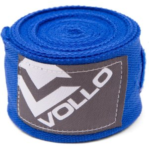 Bandagem Elástica Treino Boxe/Muay Thai Luta Vollo Azul