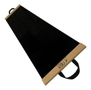 Slide Board Preto Ou Prancha de Deslizamento Com Sapatilha + Pasta + Flanela + Cinta