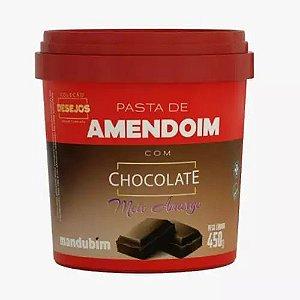 PASTA DE AMENDOIM CHOCO AMARGO MANDUBIM 450g