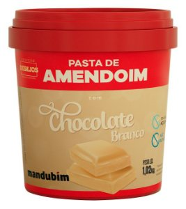PASTA DE AMENDOIM CHOCO BRANCO MANDUBIM 1,02kg