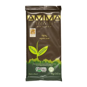 CHOCOLATE 75% CACAU ORGANICO 6X80G
